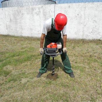 Отбор образцов грунта для геологический исследований
