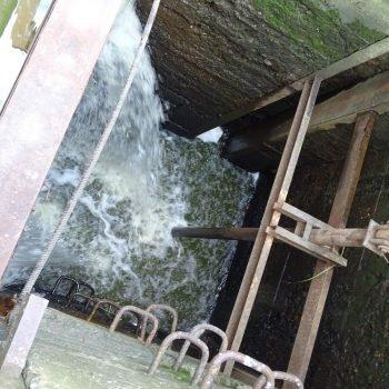 Водосбросная шахта паводкового водосброса с колёсным затвором