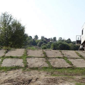 Земляная часть плотины на р. Нара г. Серпухов