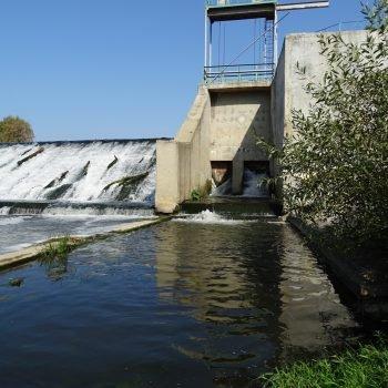 Паводковый водосброс плотины на р. Нара г. Серпухов