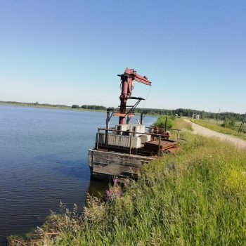 Головная часть паводкового водосброса гидротехнического сооружения Некрасовского (нижнего) водохранилища