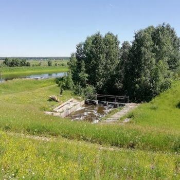 Водобойный колодец паводкового водосброса гидротехнического сооружения Некрасовского (нижнего) водохранилища