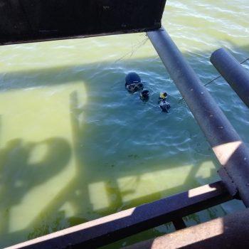 Водолазное обследование паводкового водосброса